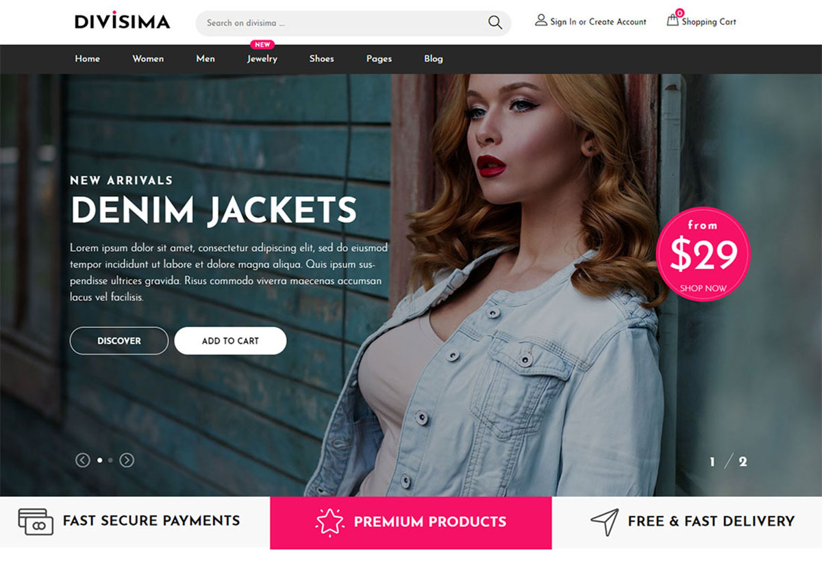free ecommerce website templates in html