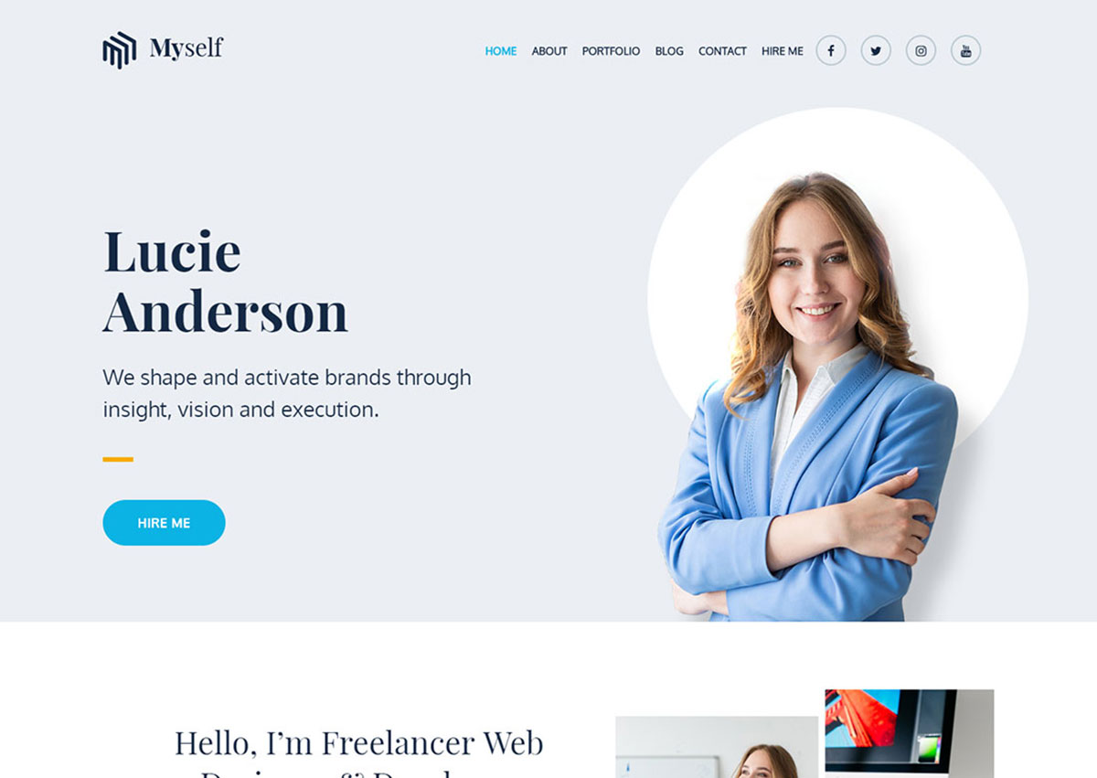 21 Free Personal WordPress Themes For Personal, Portfolio And CV Websites 2019