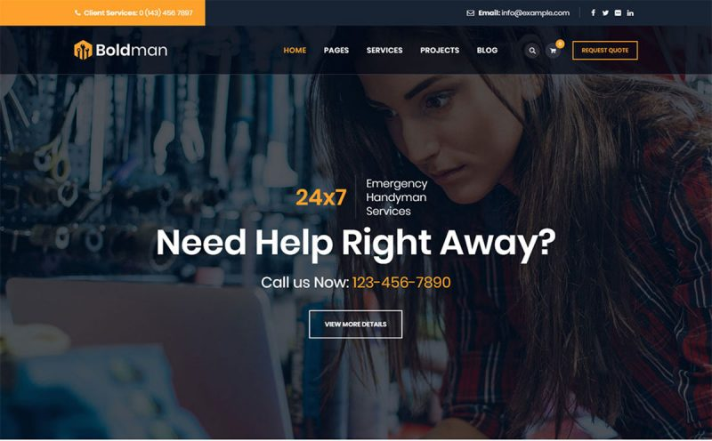 20 Best Handyman WordPress Themes For Handyman Services & Home Repair 2020