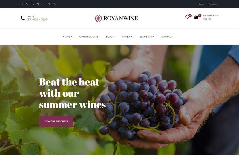 17 Best Wine Website Templates (HTML & WordPress) 2020
