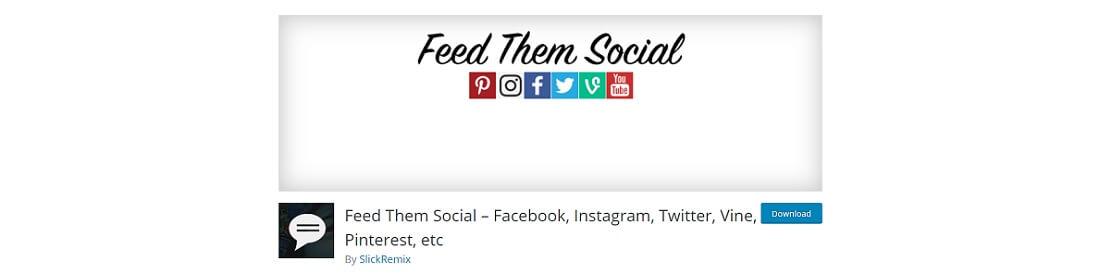 feed them social plugin