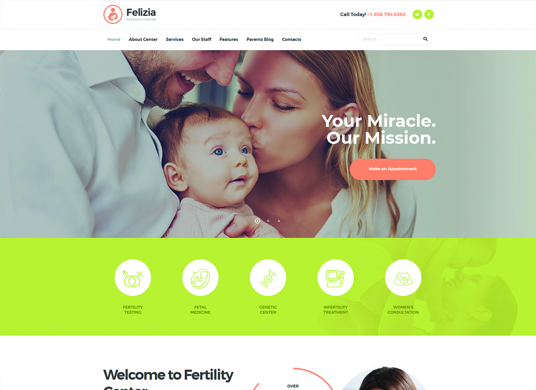 Felizia - Fertility Center & Medical WordPress Theme