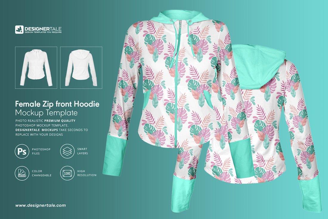 female jacket mockup