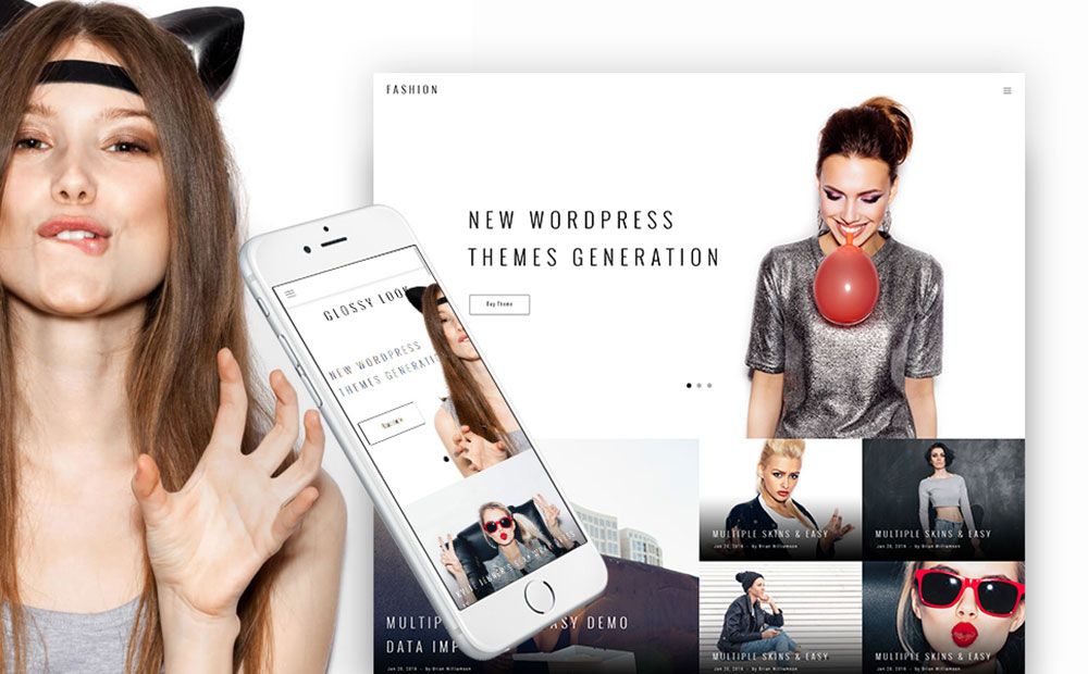 Fashion Blogging WordPress Theme with Trendy Design