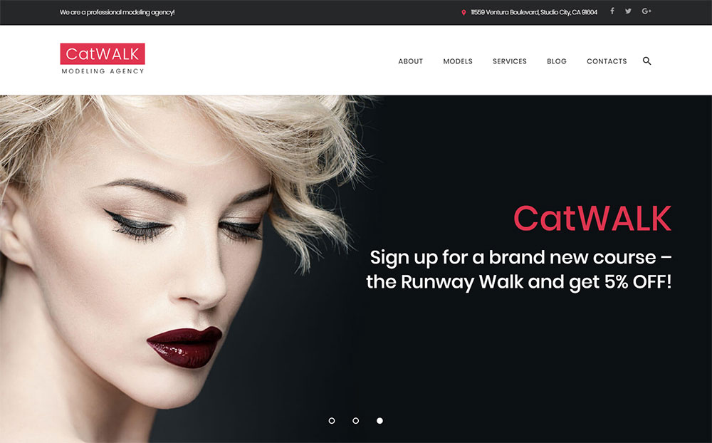 Catwalk - Fashion Modeling Agency Responsive WordPress Theme