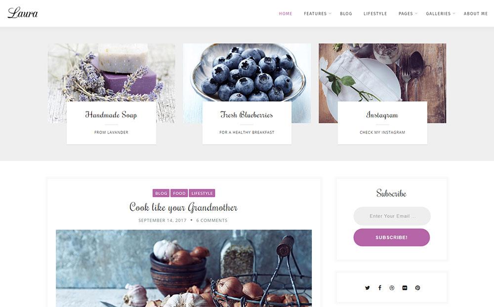 Laura - A Feminine Blog WordPress Theme