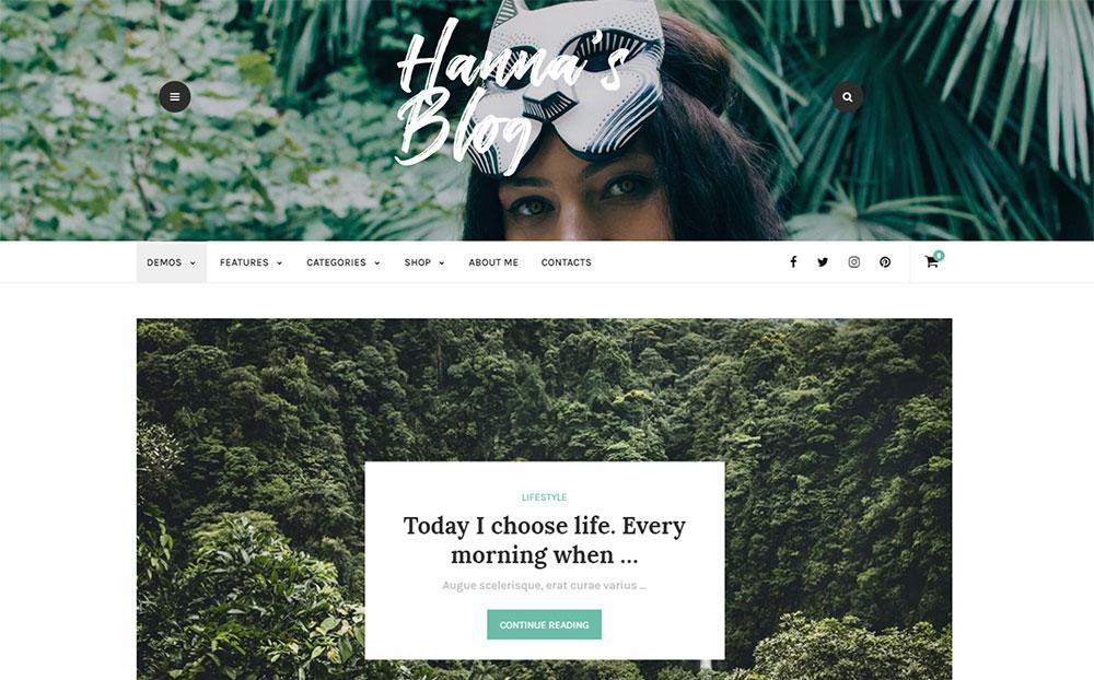 Hanna - A Beautiful Blog & Magazine WordPress Theme
