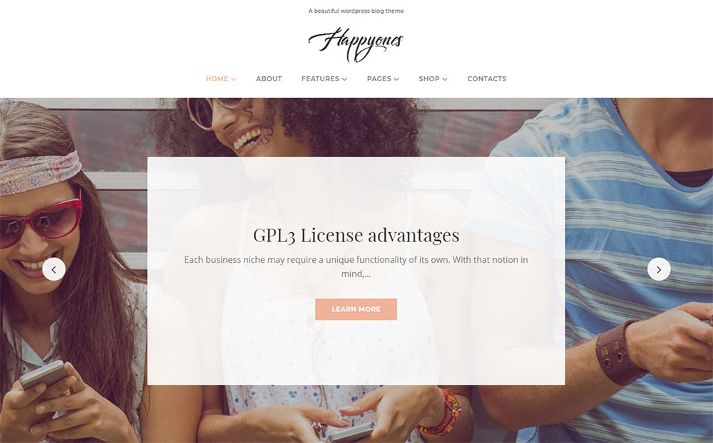Happyones - Blog WordPress Theme