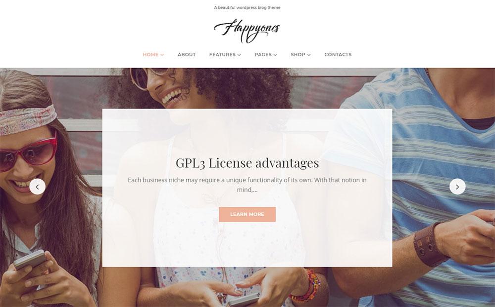 Happyones - Blog WordPress Theme