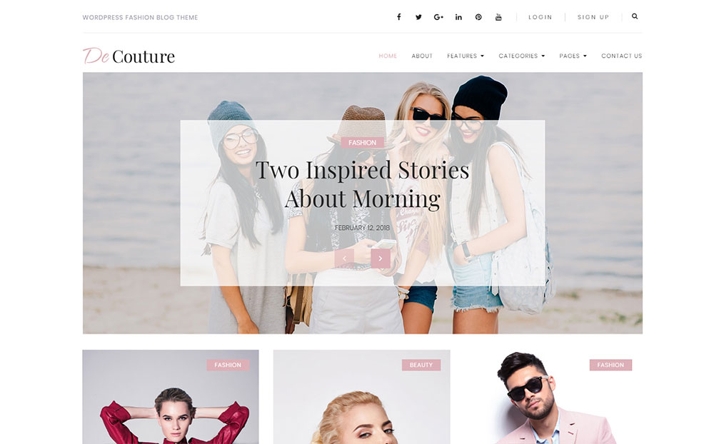 De Couture - Fancy Fashion & Beauty Blog WordPress Theme