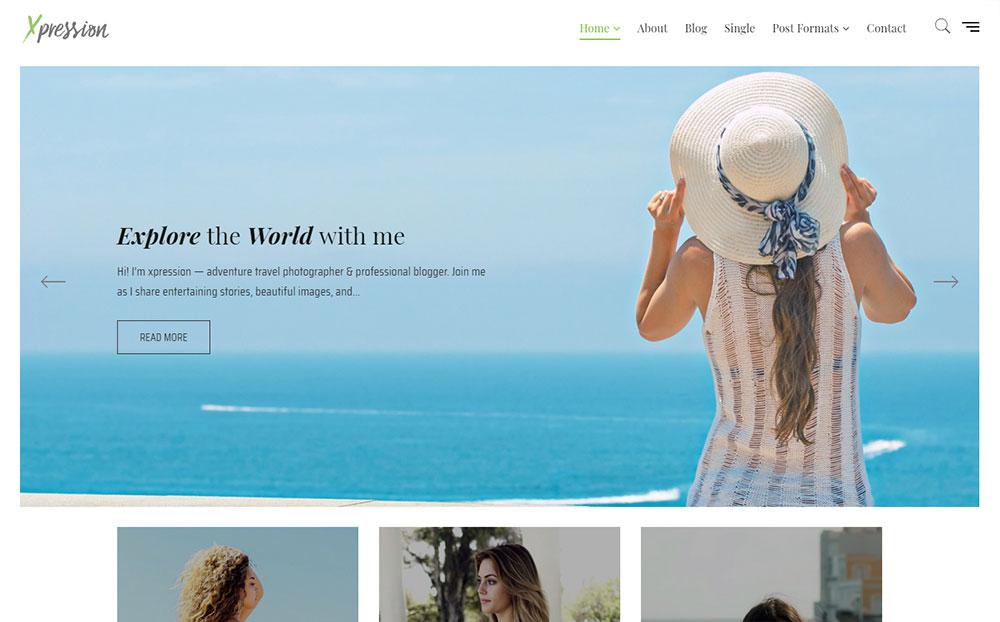 xPression - Minimal Blog WordPress Theme