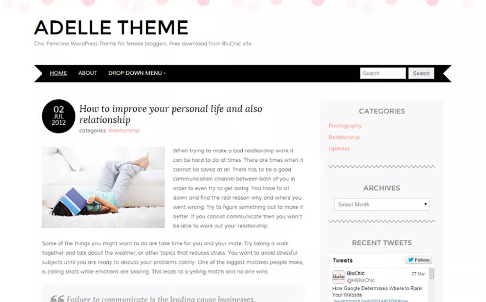 Adelle WordPress Theme