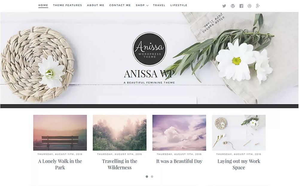 Anissa Beautiful WordPress Theme