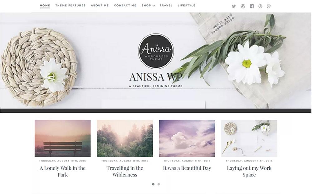Anissa Beautiful WordPress Theme