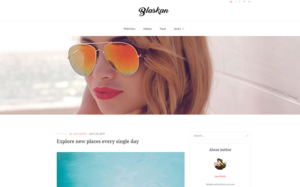 Blaskan - simple WordPress blog theme