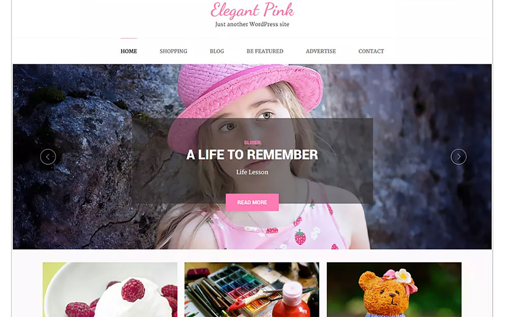 Elegant Pink WordPress Theme
