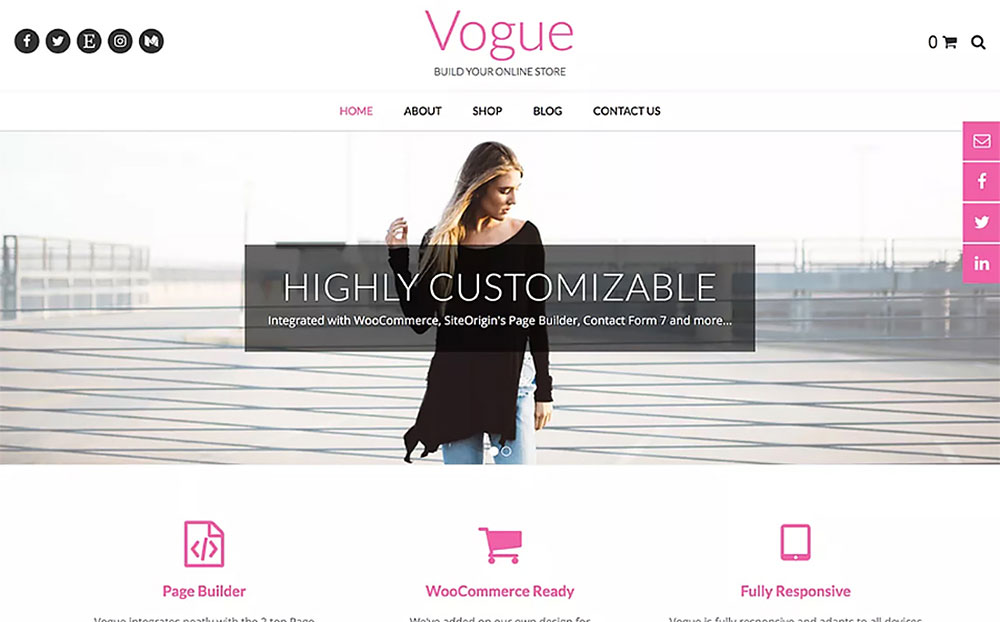 Vogue - WordPress Theme