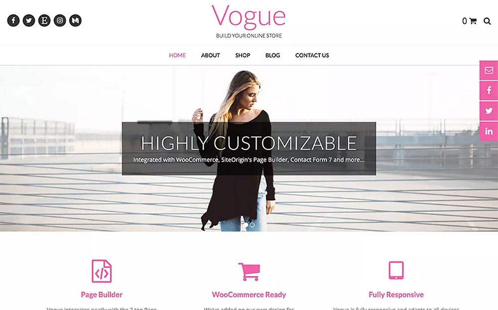 Vogue - WordPress Theme