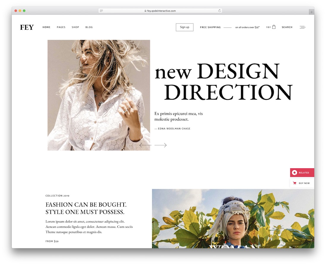 fey ecommerce wordpress theme