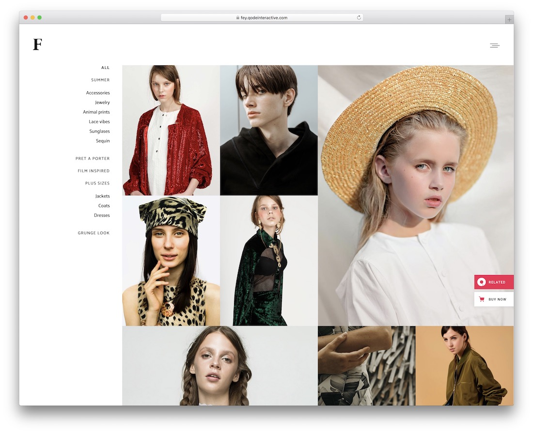 fey fashion wordpress theme