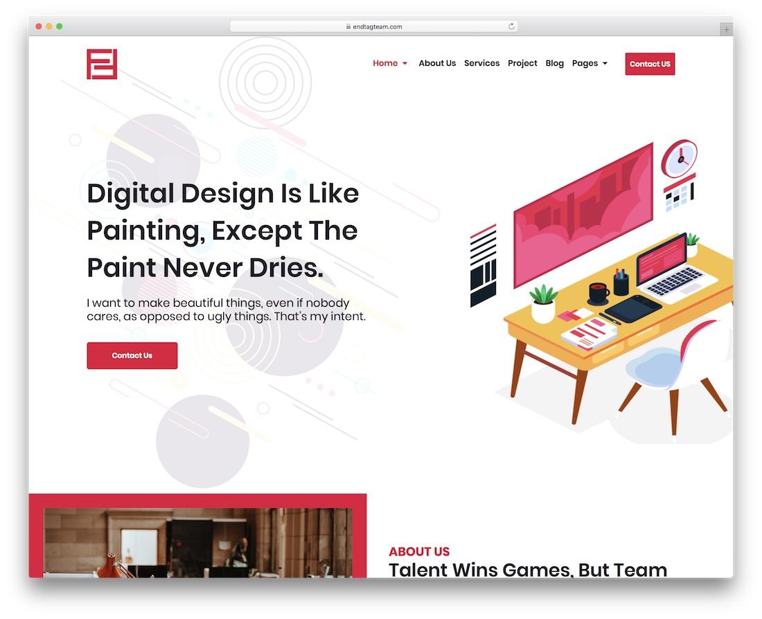 fian cheap website template
