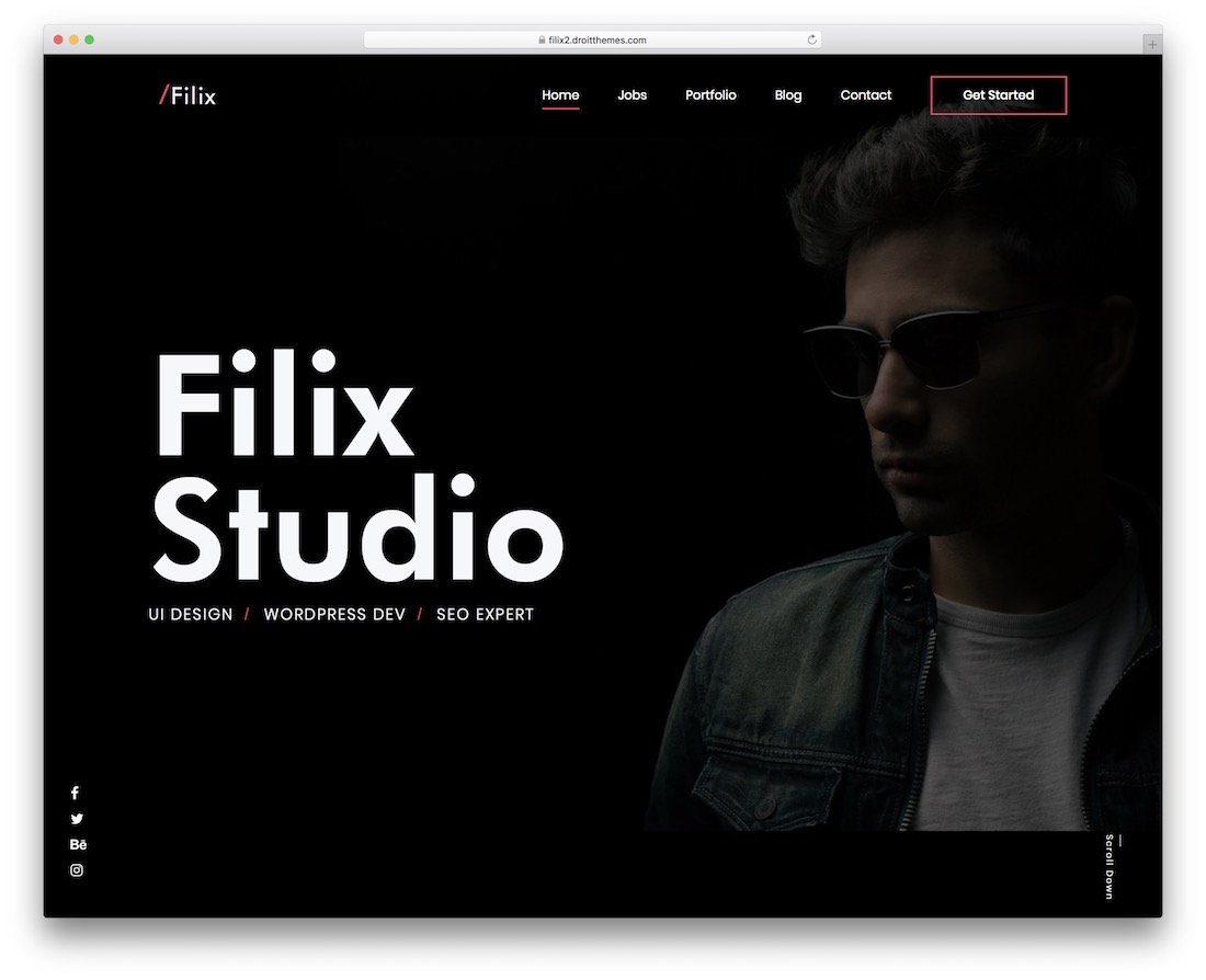 filix bootstrap portfolio website template