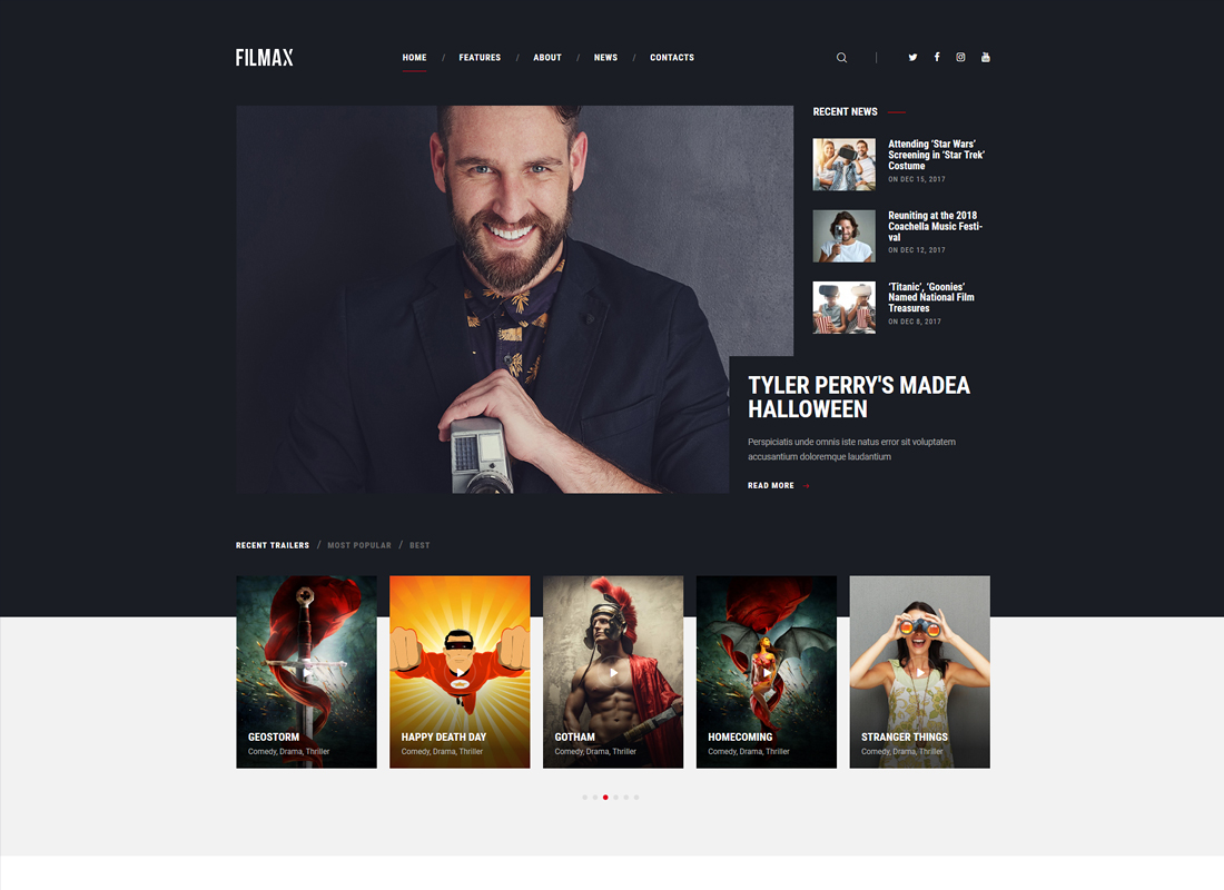 Filmax - Movie Magazine WordPress Theme