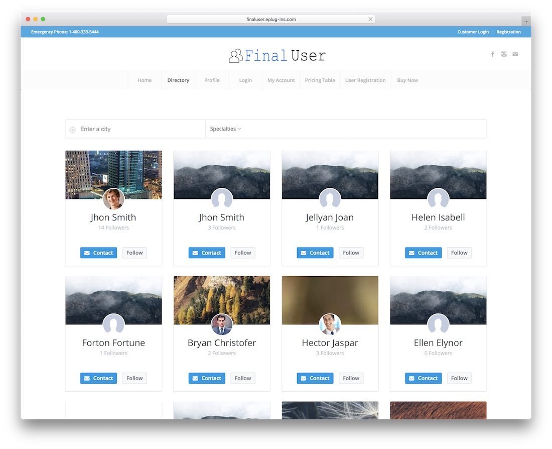 final user wordpress plugin