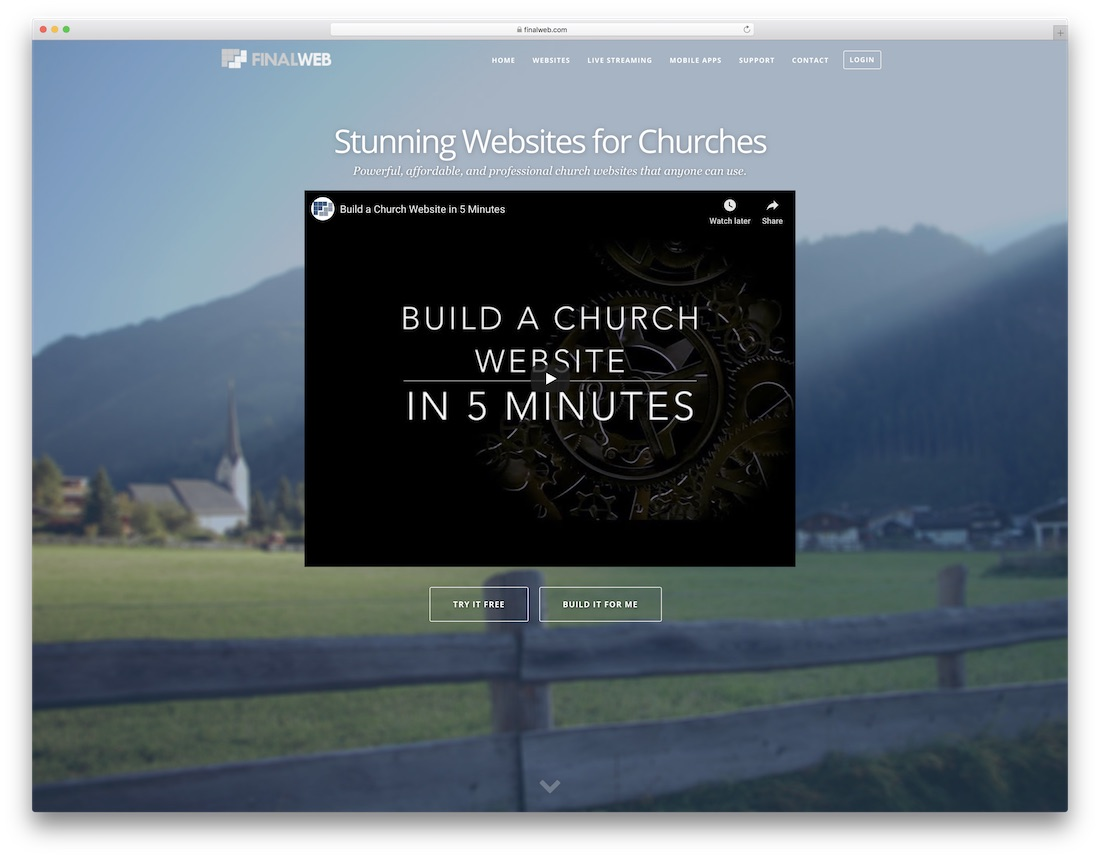 finalweb church website builder