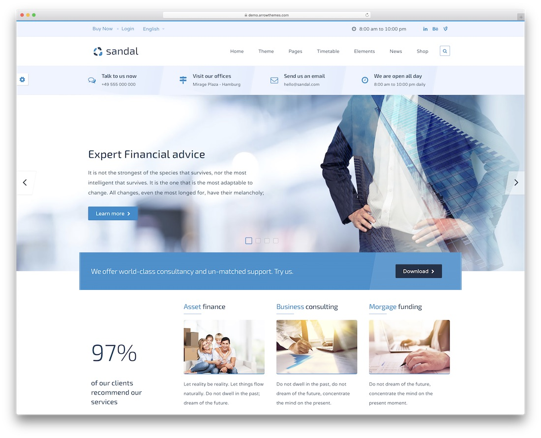 finance consultancy website template