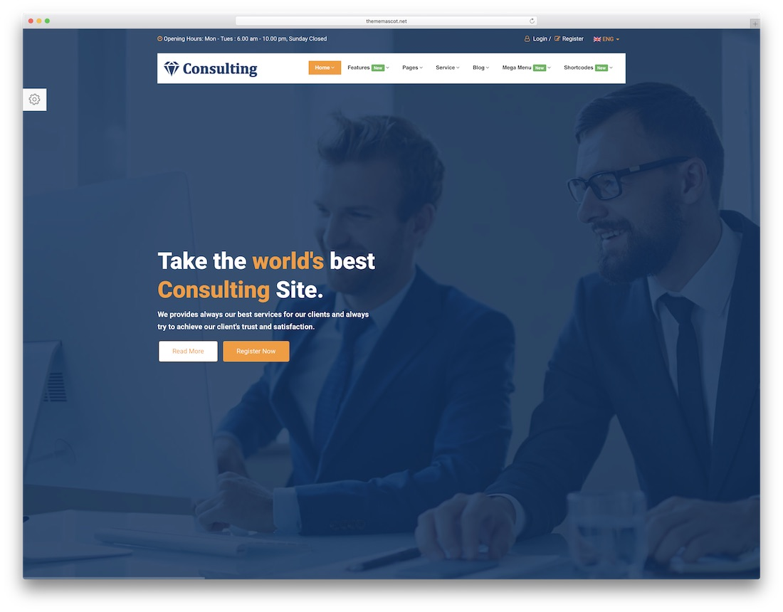 finance consulting website template
