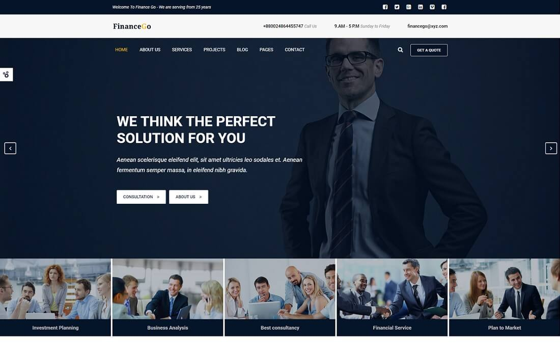 finance go cryptocurrency website template