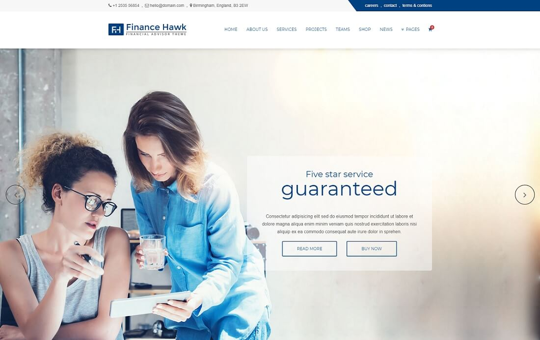 finance hawk cryptocurrency wordpress theme