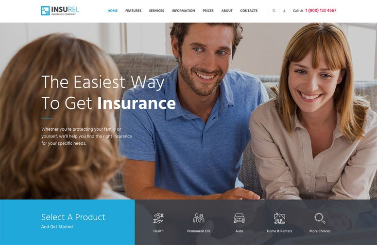 10 Attractive Insurance WordPress Themes 2017