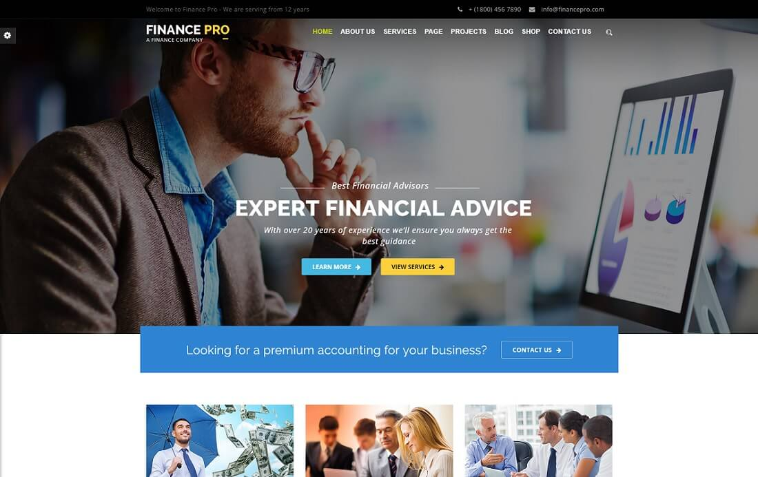 finance pro cryptocurrency wordpress theme