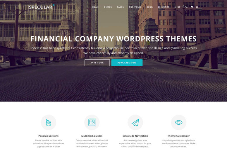 16 Financial Company Wordpress Themes 2015