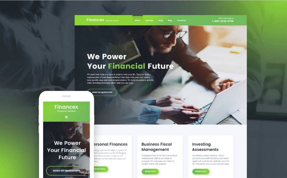 Financex - Financial Advisor WordPress Theme