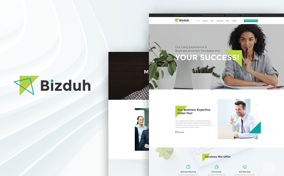 Bizduh - Business Consulting Company Responsive WordPress Theme