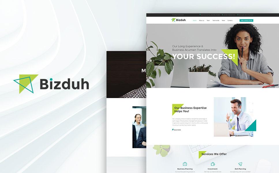 Bizduh - Business Consulting Company Responsive WordPress Theme