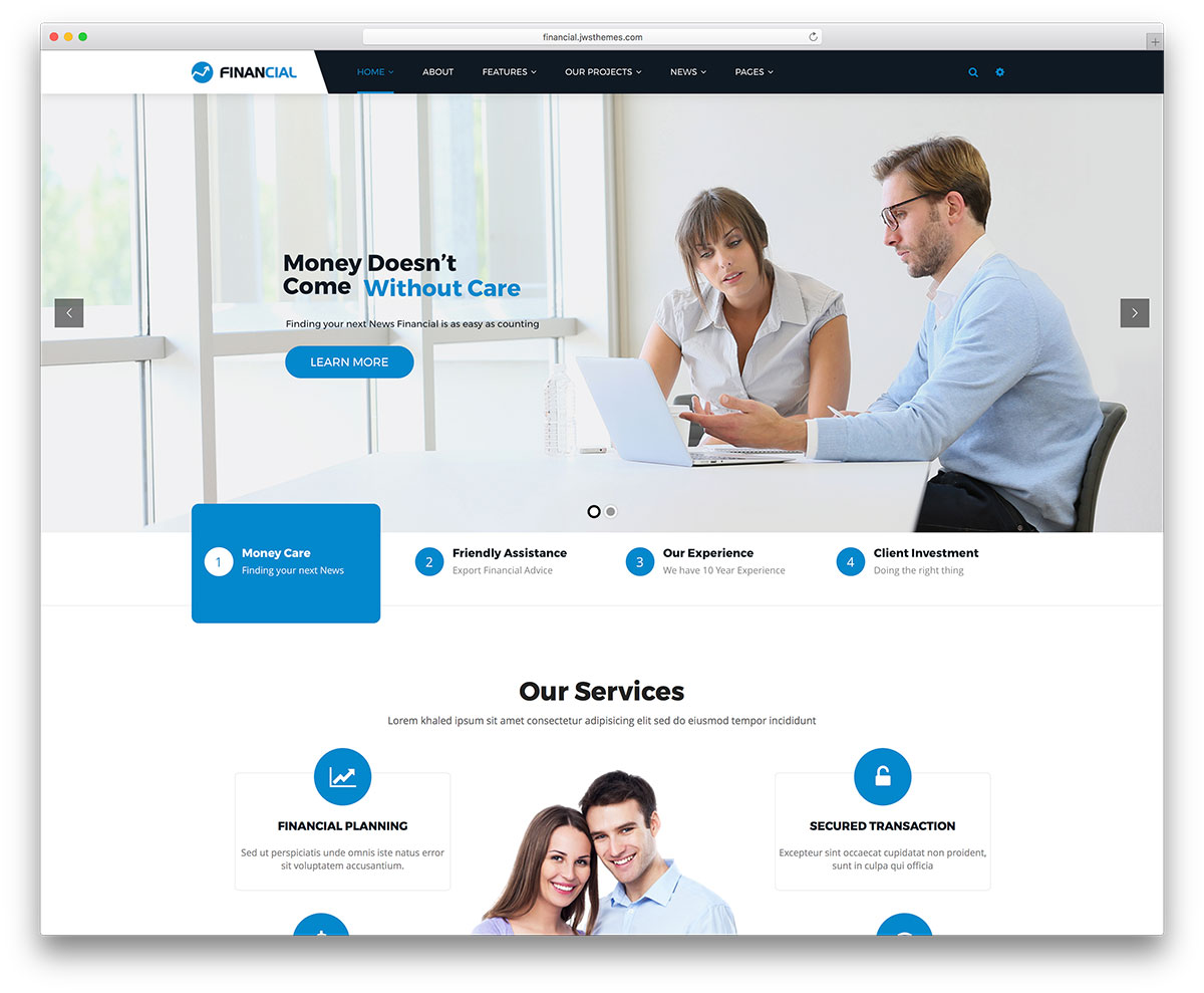 Financial Is A WordPress Theme Dedicated To Businesses In The World It Pretends Be Best Business Consulting Experts Site On Field