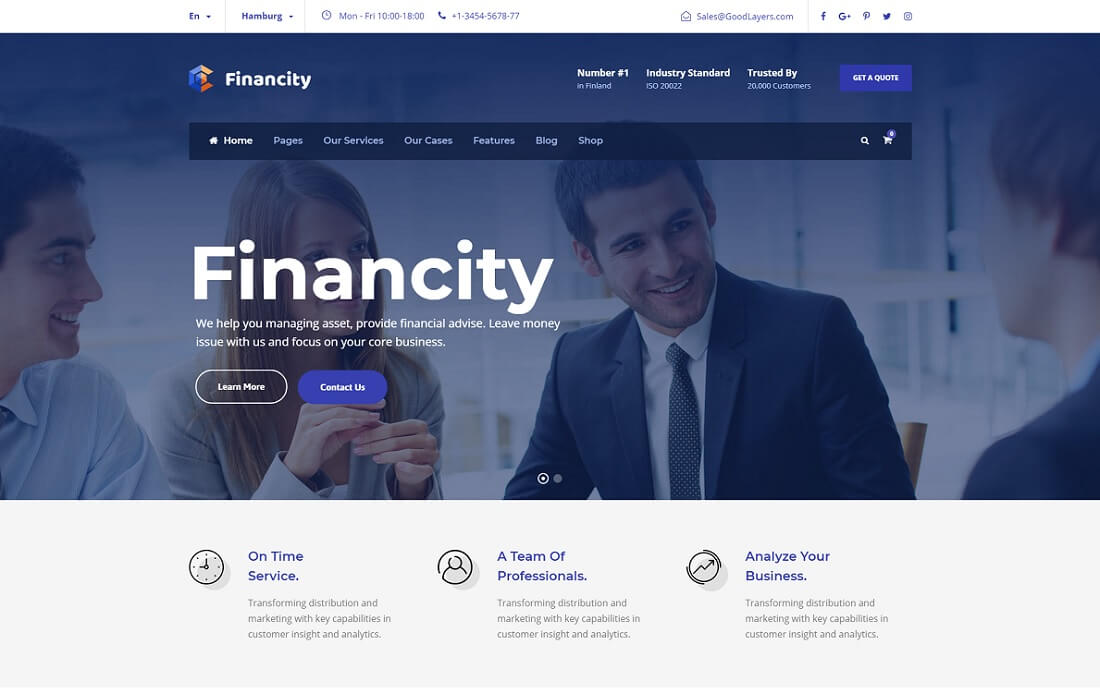 financity cryptocurrency wordpress theme