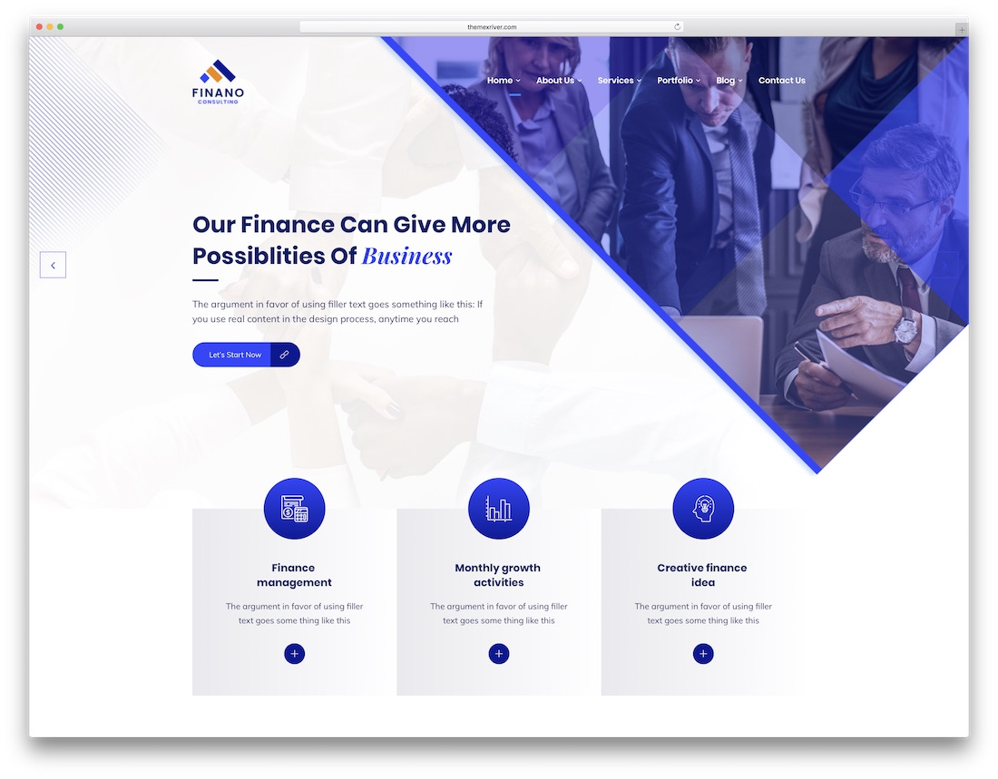 finano bootstrap business website template