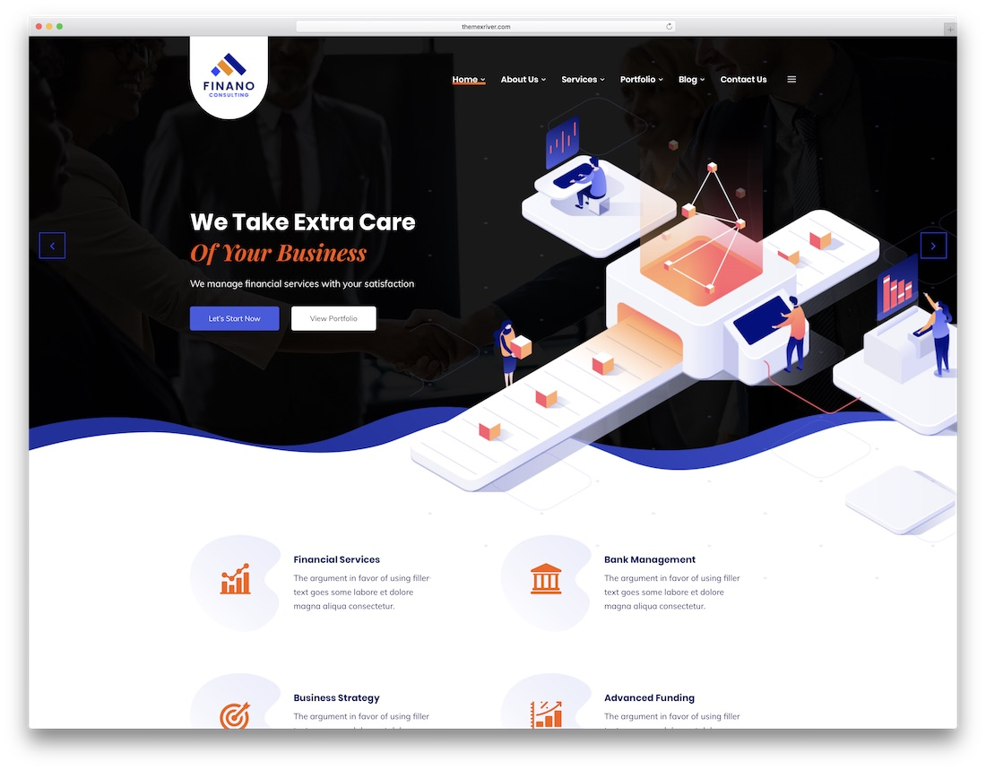 finano consulting website template