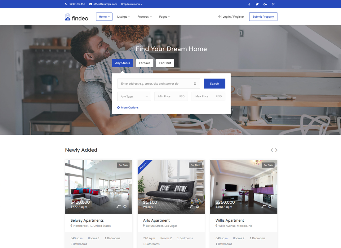 Findeo | Real Estate WordPress Theme