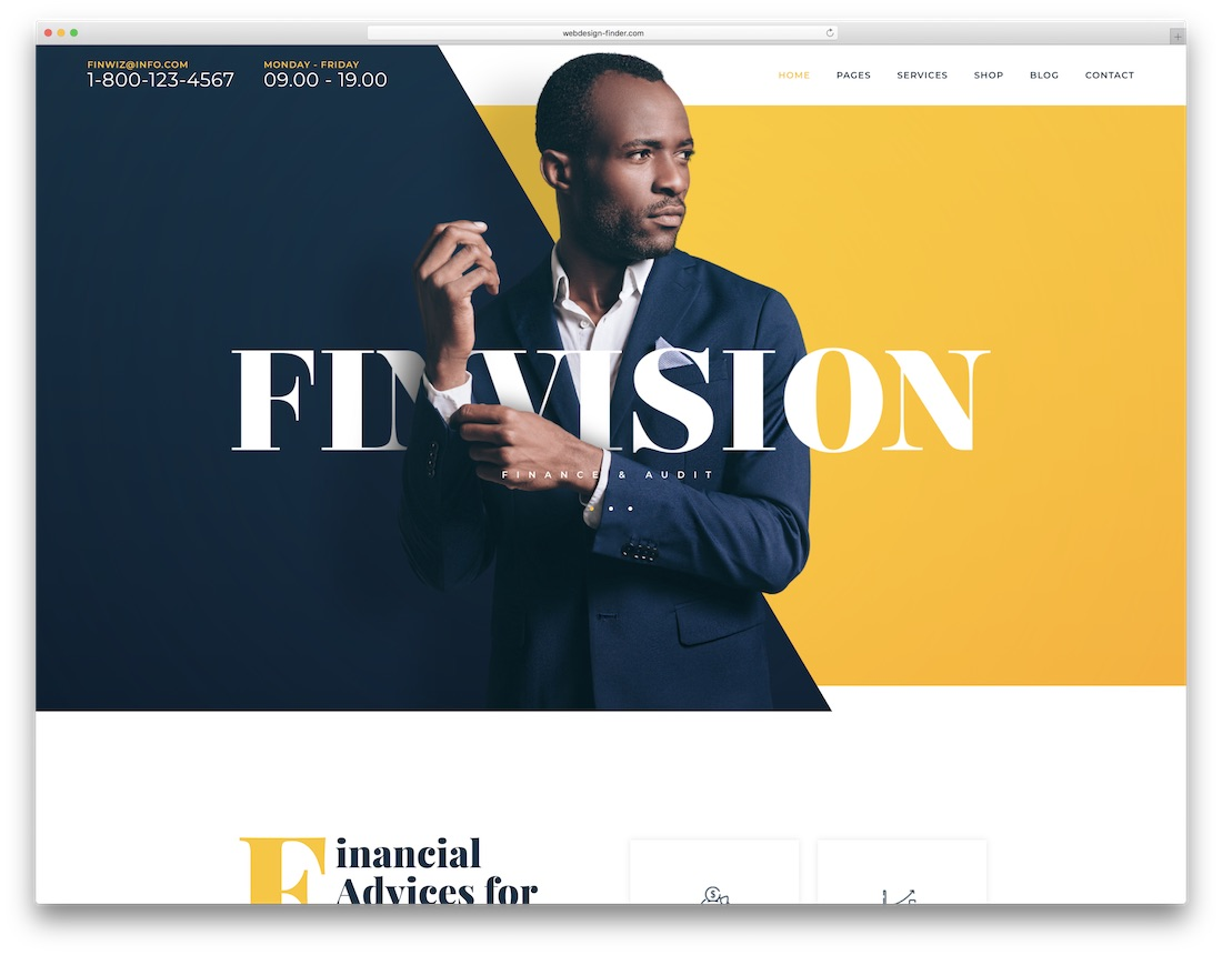 finvision accountant wordpress theme