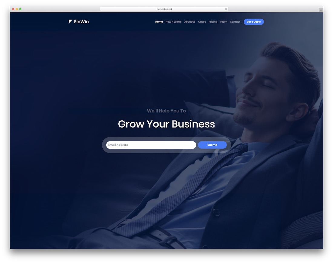 finwin interactive website template