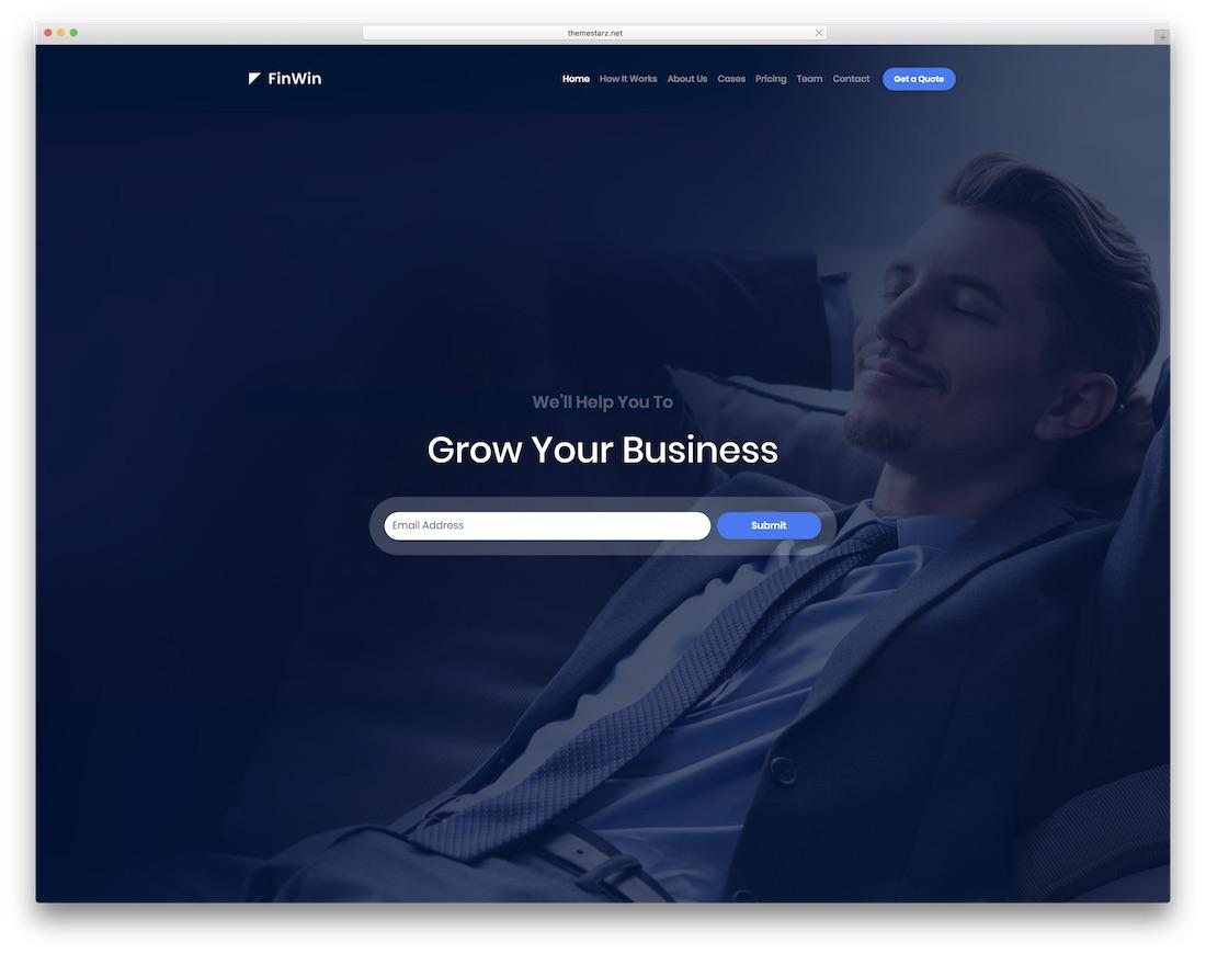 finwin interactive website template