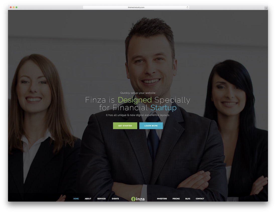 finza html5 one page website template