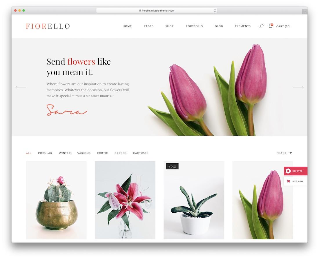 fiorello flower website template