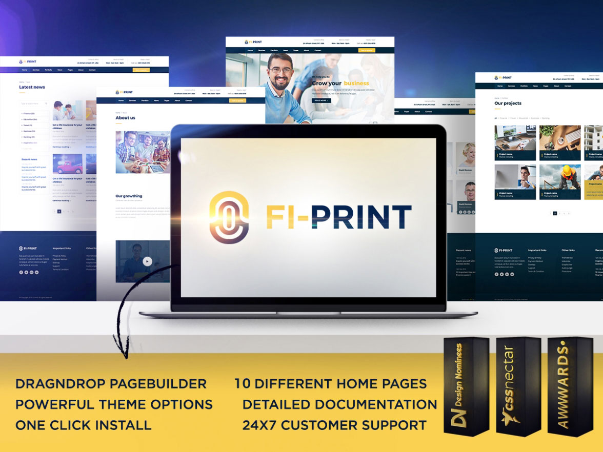 50 best wordpress corporate business themes of 2018 colorlib fi print is a high performance multipurpose wordpress theme it is modern looking and clean with tons of guidance and documentation accmission Choice Image